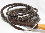Brown Leather Braided Bullwhip 10' - 0110BR
