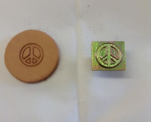 Peace Sign  3D Stamp - 88570