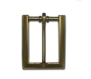 "1"" Antique Brass Heel Style Buckle - B-0900-16AB"