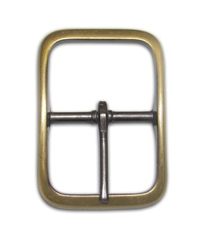 "1 1/8"" Center bar Antique Brass Buckle - B188818AB"