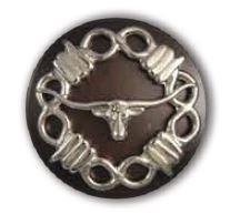 "Long Horn ""Sweet Iron Concho"" with Screw Back - CH123924"