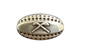 "1 1/4"" X 5/8"" Golf Concho with Rivet Back"