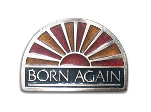 """Born Again"" Heavy Cast Epoxy Inlay Buckle - EB2224"