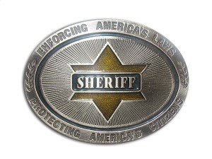 """Sheriff"" Heavy Cast Epoxy Inlay Buckle - EB2248"