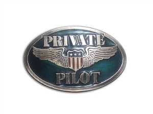 """Private Pilot"" Heavy Cast Epoxy Inlay Buckle - EB2249"