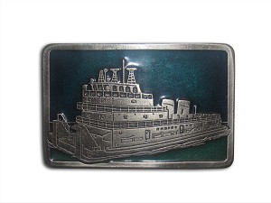 """Riverboat"" Heavy Cast Epoxy Inlay Buckle - EB2250"