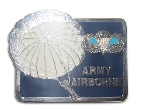"""Army Airborne"" Heavy Cast Epoxy Inlay Buckle - EB2252"