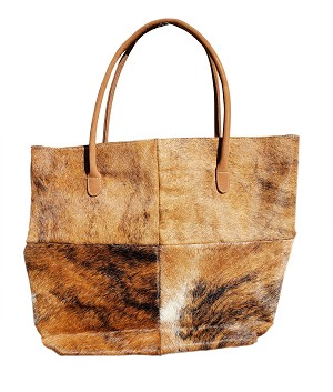 "14"" X 18"" Cow Hide hair on Tote Bag"