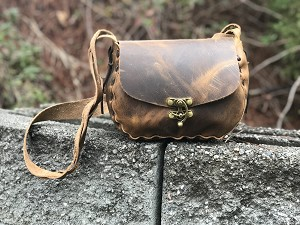Medium Dark Brown Crazy Horse Handbag