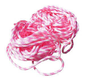 "5/8"" Pink and White Poly Rope - Per Foot - N7000PW"