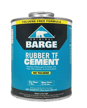 Barge Rubber Cement (Quart) Toluene Free - A910732