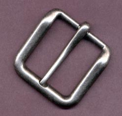 "1 1/2"" Heavy Antique Nickel End Bar Buckle - B302224AN"