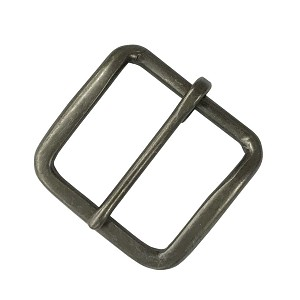 "1 1/2"" Heel Style Buckle with Antique Pewter Finish - B59024AP"