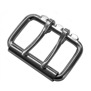 "2"" Double Tongue Steel Roller Buckle (Nickel Plate) - B90032NP"
