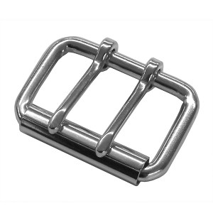 "1 3/4"" Double Tongue Steel Roller Buckle (Nickel Plate) - B90028NP"