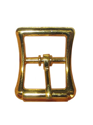 "1"" Diecast Imitation Roller Buckle, (Brass Plate) - B92316BP"