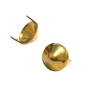 1/2in Brass Plate Conical Spot (100 pk)