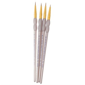 Taklon 4 pc Brush Set Fine Tip - 343401