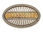 "2"" X 1-1/2"" Sedona Oval Concho Silver/Gold Plated"