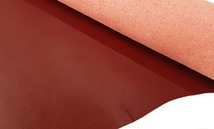 Deep Red Spring Fashion Leather
