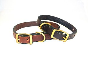 "5/8"" Heritage Dog Collar, Solid Brass Hardware"