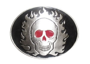 """Skull"" Heavy Cast Epoxy Inlay Buckle - EB2126"