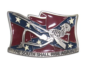 "The South Will Rise Again ""A"" Series Heavy Cast Epoxy Inlay Buckles - EB2165A"