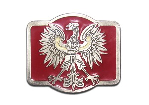 """Polish Eagle"" Heavy Cast Epoxy Inlay Buckle - EB2214"