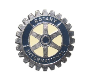 """Rotary Club"" Heavy Cast Epoxy Inlay Buckle - EB2215"