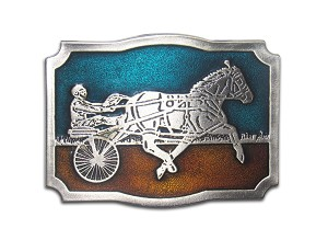 """Harness Racing"" Heavy Cast Epoxy Inlay Buckle - EB2239"