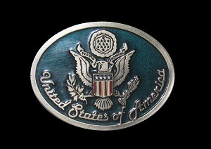 """U.S. Great Seal"" Heavy Cast Epoxy Inlay Buckle - EB2240"