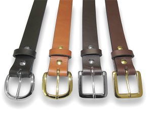 "1"" English Bridle Belt Blank with Solid Brass Buckle - L26016"
