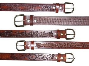 "1 1/2"" Finished Embossed Name Belt Blank (XL)"