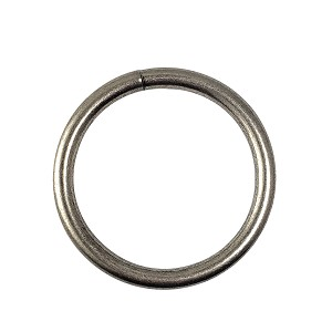"1 1/4"" x 4.5mm Satin Nickle Solid Weld O Ring"