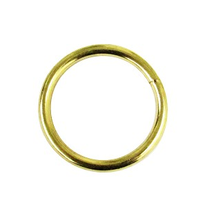 "1 1/2"" x 7 Ga Brass Plated O Ring - H5350247BP"