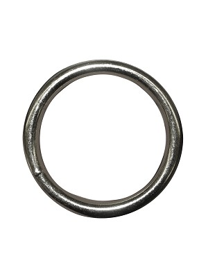 "1"" Solid Welded Steel O Ring, 7 gauge, Nickel Plated - H535016NP"