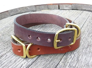 "1"" Heritage Dog Collar, Solid Brass Hardware - DH16"