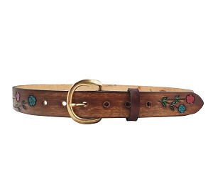 "1 1/4"" Hand Painted Flower Belt - ML25920"