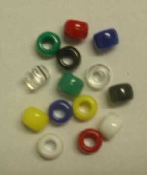 Assorted Plastic Pony Beads (500 Pack) - 5400015C
