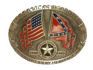 American by Birth Cast Antique Epoxy Buckle