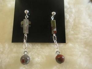 African Bloodstone Earrings