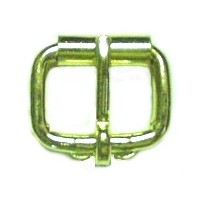 "1"" Light Duty BP Roller Buckle (Brass Plate) - B19016BP"
