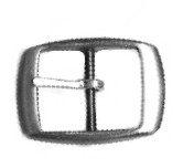 "1"" Nickel Plate Center Bar Utility Buckle - B270416NP"