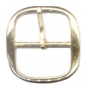 "1"" Polished Solid Brass Center Bar Buckle - B71816PSB"