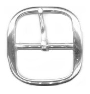"1 1/2"" Solid Brass Center Bar Buckle (Nickel Plated) - B71824NSB"