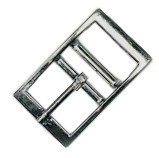 "1"" Zinc Zinc Die Cast, Square Corner, Double Bar Buckle, Nickel Plated Buckle - BS14716NP"