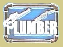 """Plumber"" Heavy Cast Epoxy Inlay Buckle - EB2385"