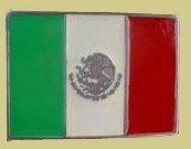 """Mexico Flag"" Heavy Cast Epoxy Inlay Buckle - EB2454"