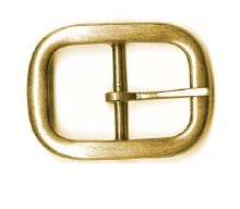 "1 1/2"" Dull Antique Brass Center Bar Utility Buckle - B362424DAB"