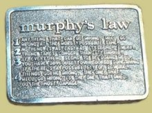 """Murphy's Law"" Heavy Cast Epoxy Inlay Buckle - EB2006"